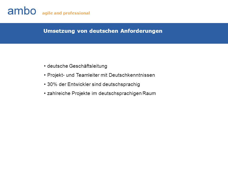 Umsetzung von deutschen Anforderungen