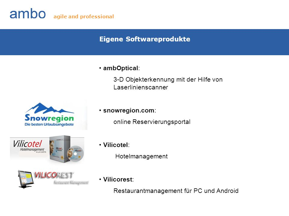 Eigene Softwareprodukte
