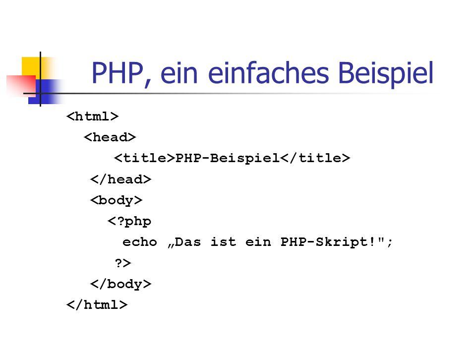 PHP, ein einfaches Beispiel