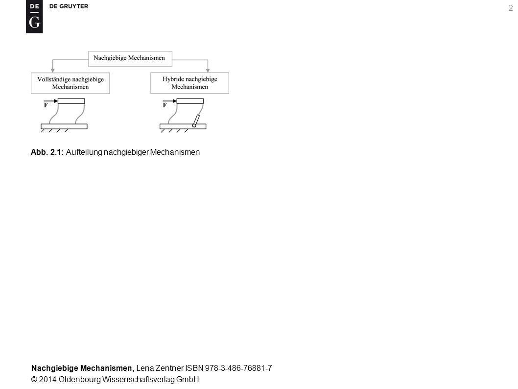 Abb. 2.1: Aufteilung nachgiebiger Mechanismen