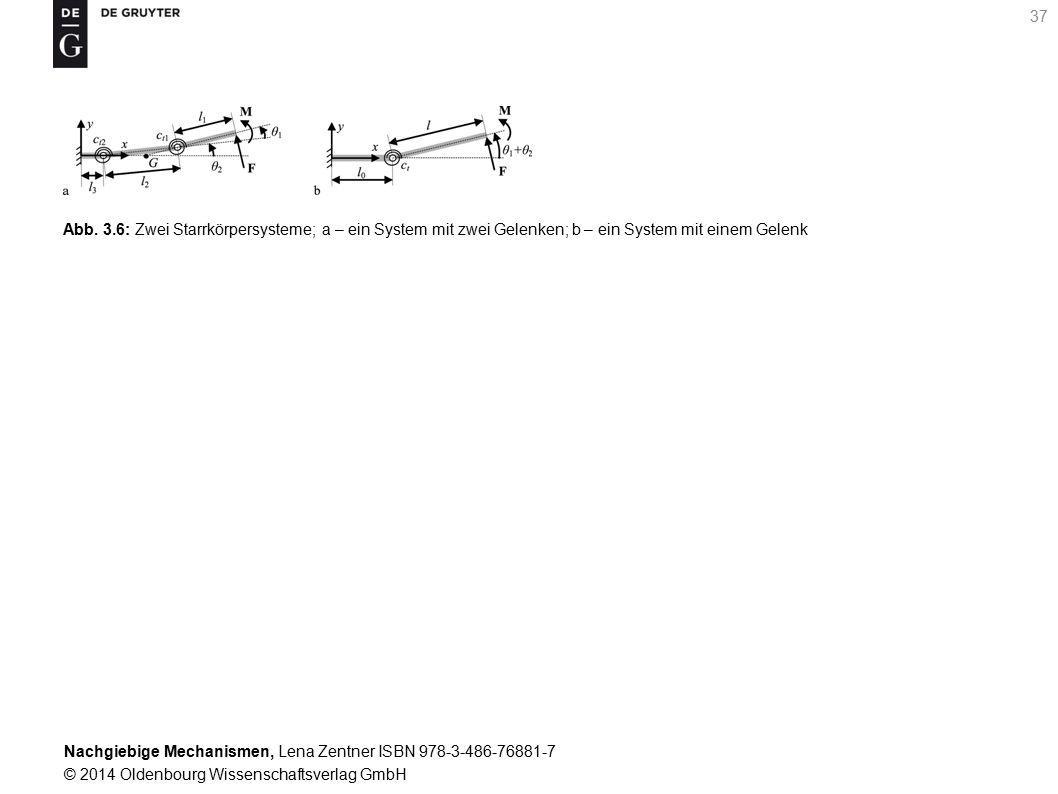 Abb. 3.6: Zwei Starrkörpersysteme; a – ein System mit zwei Gelenken; b – ein System mit einem Gelenk