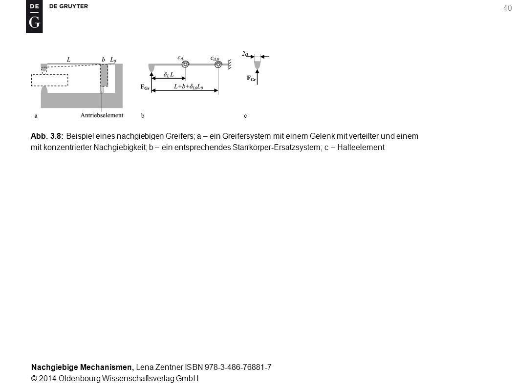 Abb. 3.8: Beispiel eines nachgiebigen Greifers; a – ein Greifersystem mit einem Gelenk mit verteilter und einem
