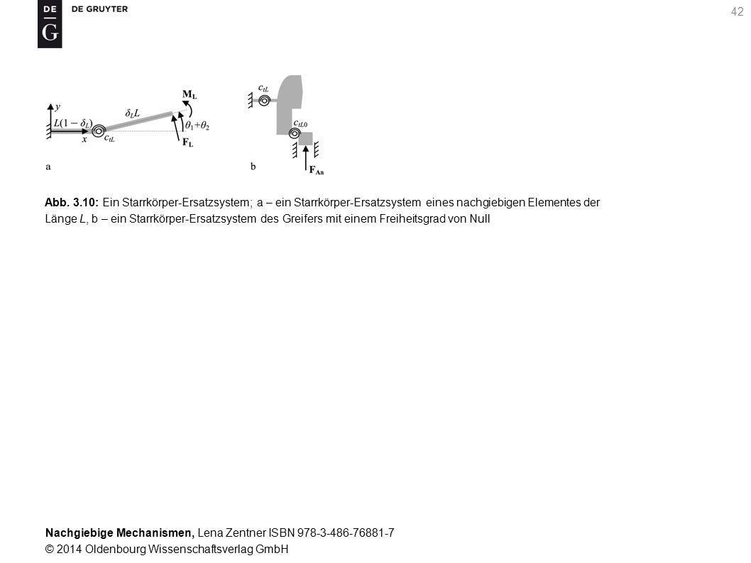 Abb. 3.10: Ein Starrkörper-Ersatzsystem; a – ein Starrkörper-Ersatzsystem eines nachgiebigen Elementes der