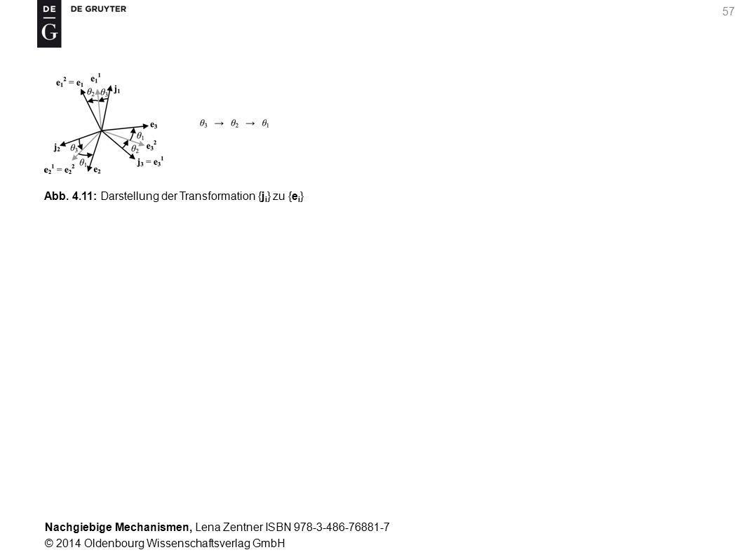 Abb. 4.11: Darstellung der Transformation {ji} zu {ei}