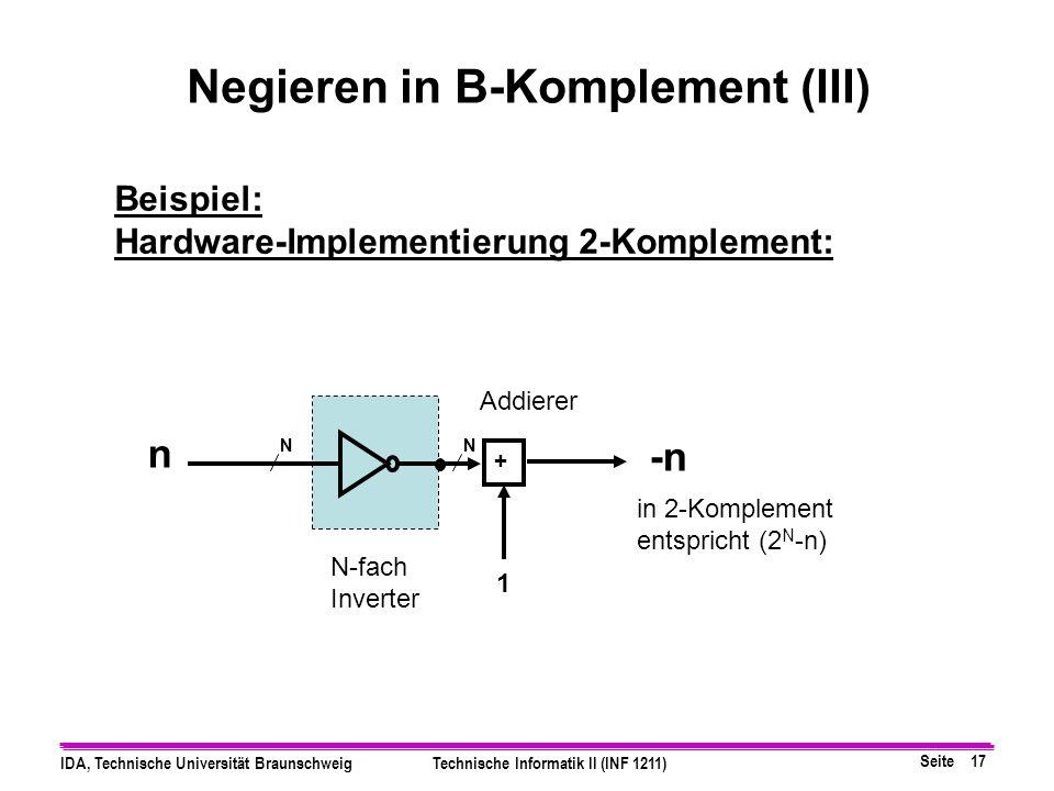 Negieren in B-Komplement (III)