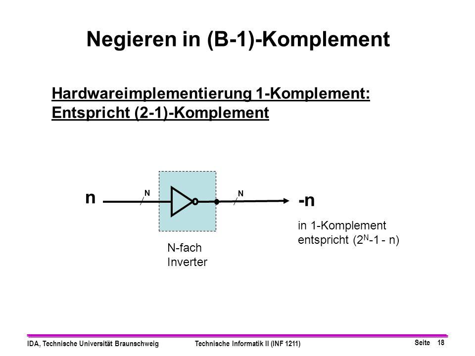 Negieren in (B-1)-Komplement