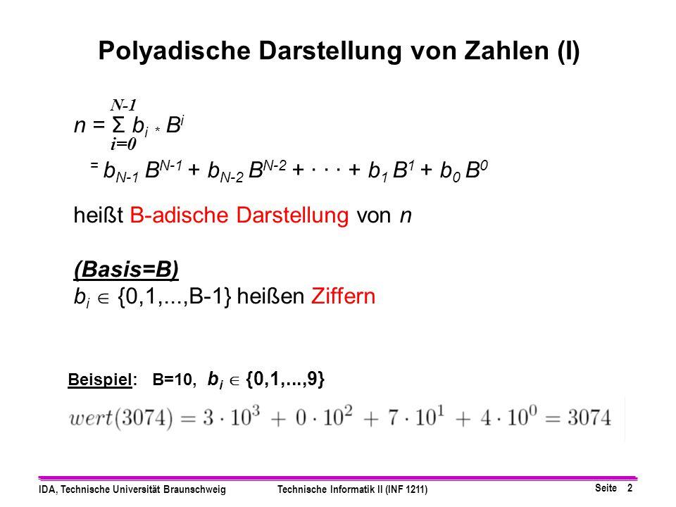 Polyadische Darstellung von Zahlen (I)