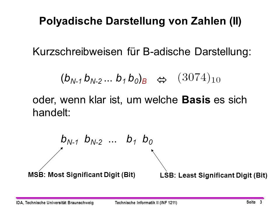 Polyadische Darstellung von Zahlen (II)