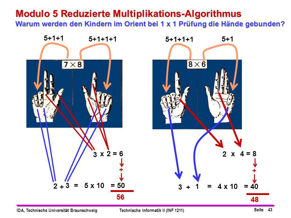 Modulo 5 Reduzierte Multiplikations-Algorithmus