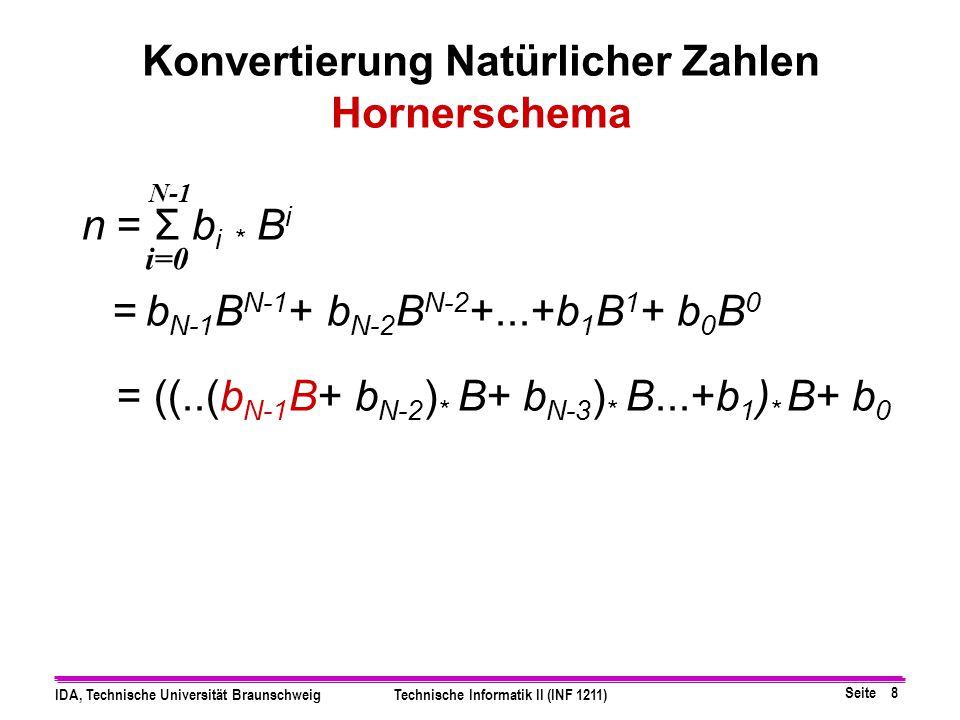 Konvertierung Natürlicher Zahlen Hornerschema