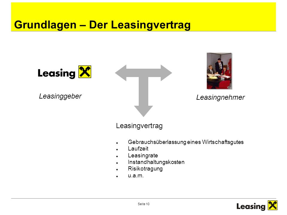 Grundlagen – Der Leasingvertrag