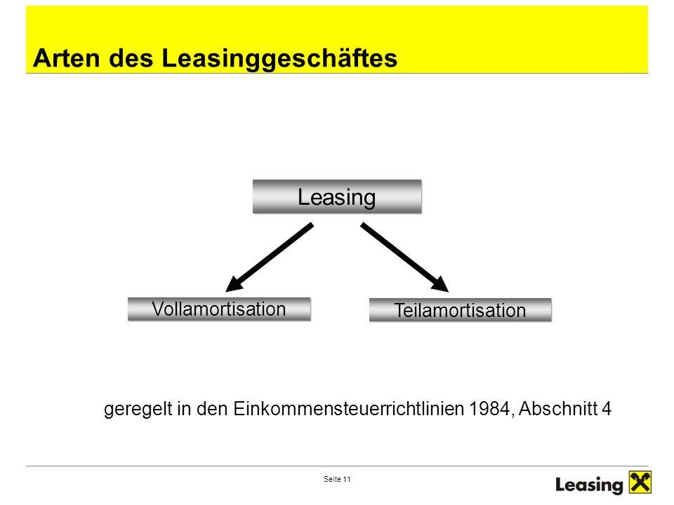 Arten des Leasinggeschäftes