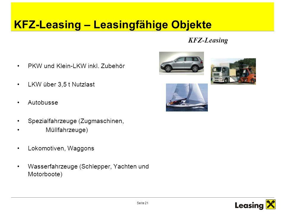KFZ-Leasing – Leasingfähige Objekte