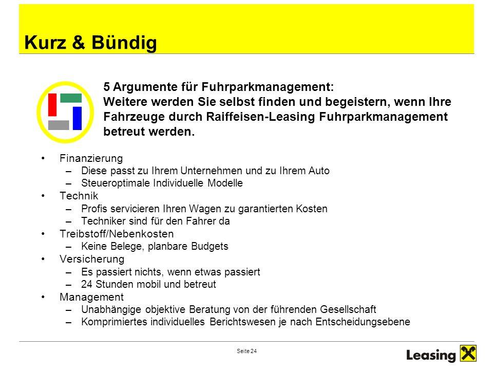 Kurz & Bündig 5 Argumente für Fuhrparkmanagement: