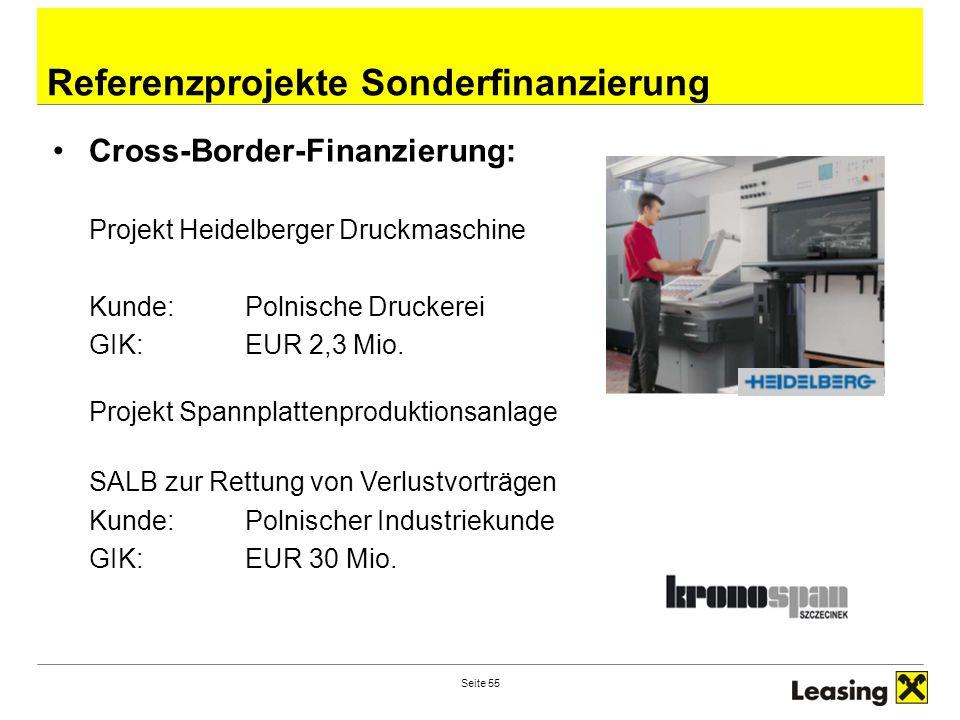 Referenzprojekte Sonderfinanzierung