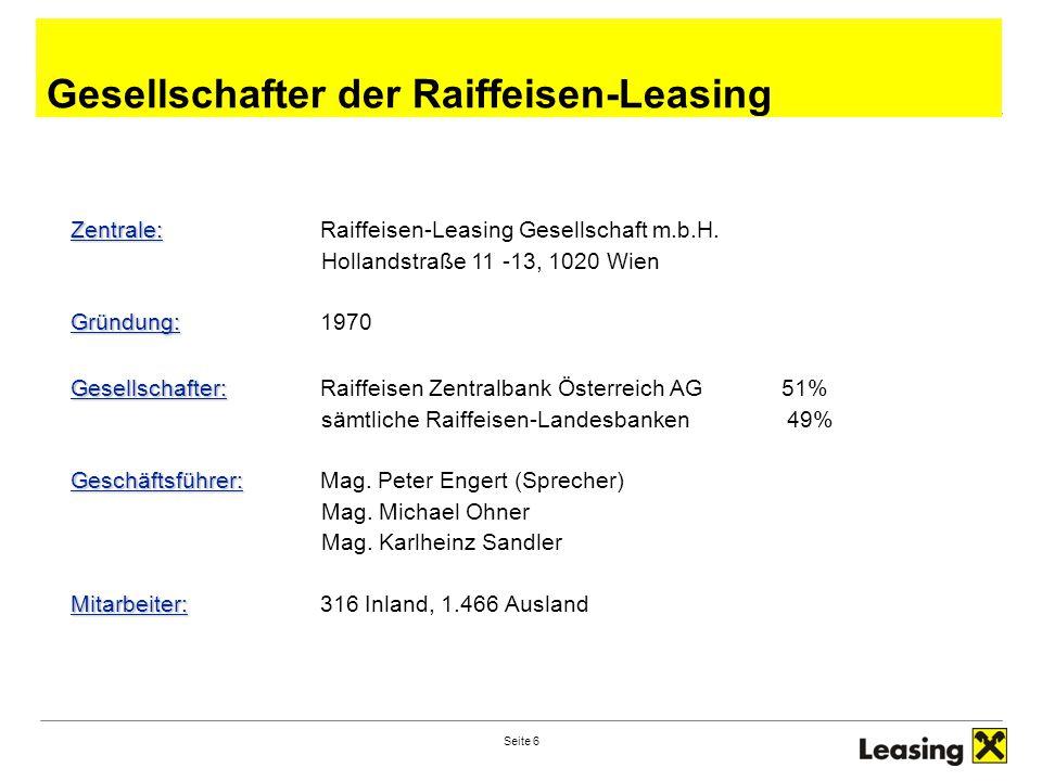Gesellschafter der Raiffeisen-Leasing