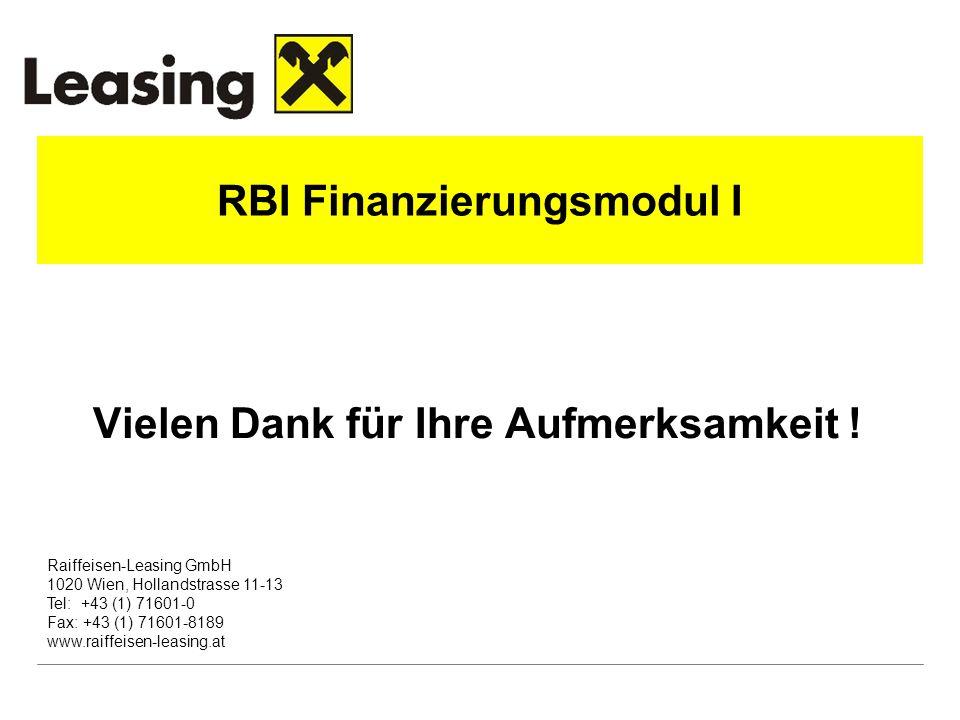 RBI Finanzierungsmodul I