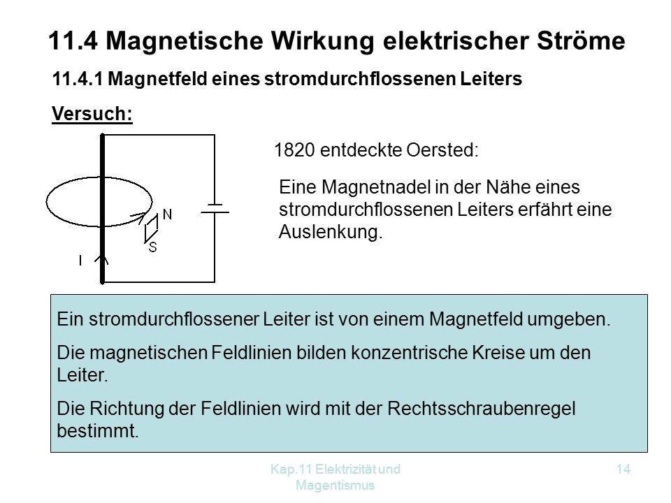 11.4 Magnetische Wirkung elektrischer Ströme