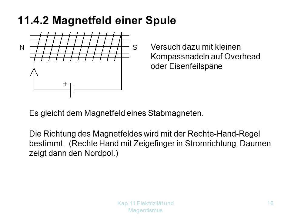 11.4.2 Magnetfeld einer Spule