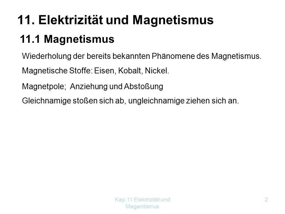 11. Elektrizität und Magnetismus