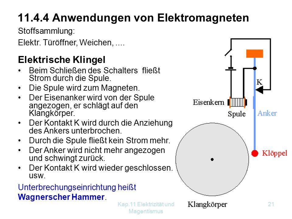 11.4.4 Anwendungen von Elektromagneten