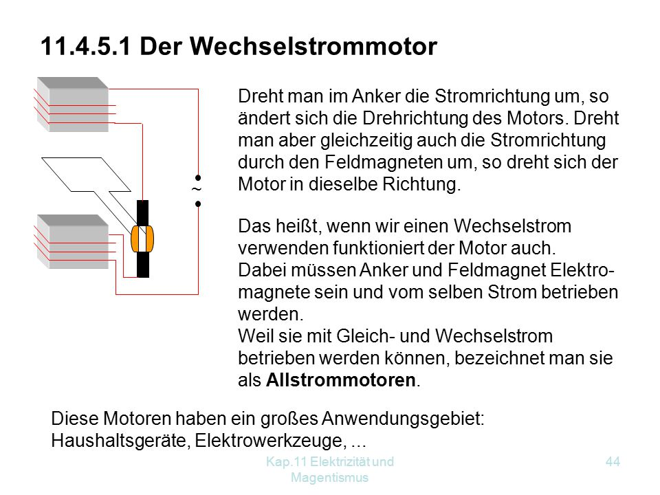 Ziemlich Wechselstrom Elektromotor Schaltplan Ideen - Der Schaltplan ...