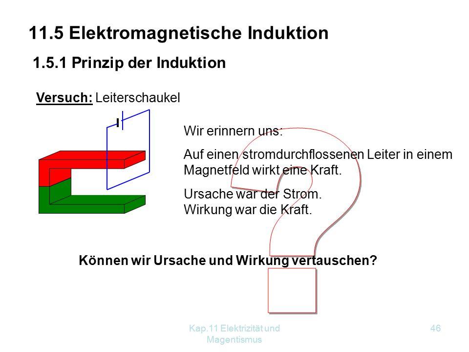 11.5 Elektromagnetische Induktion