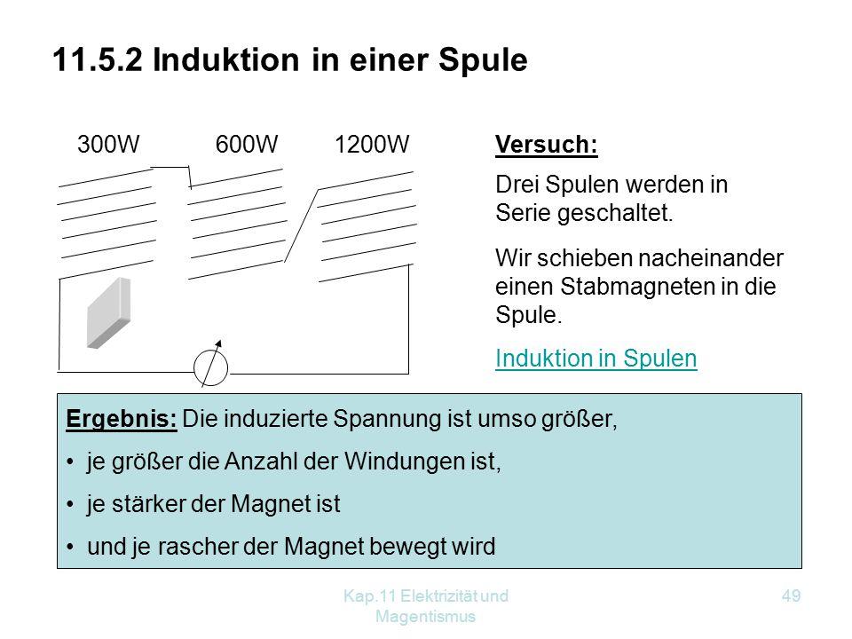 11.5.2 Induktion in einer Spule