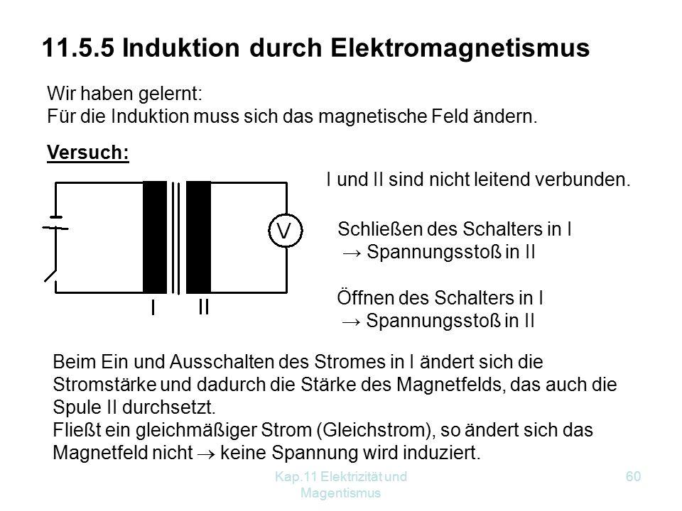 11.5.5 Induktion durch Elektromagnetismus