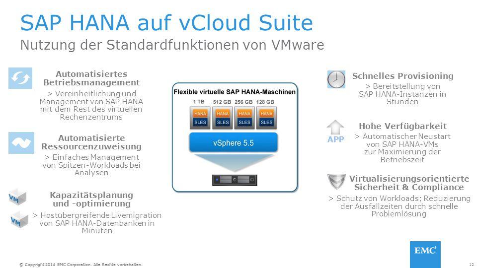SAP HANA auf vCloud Suite