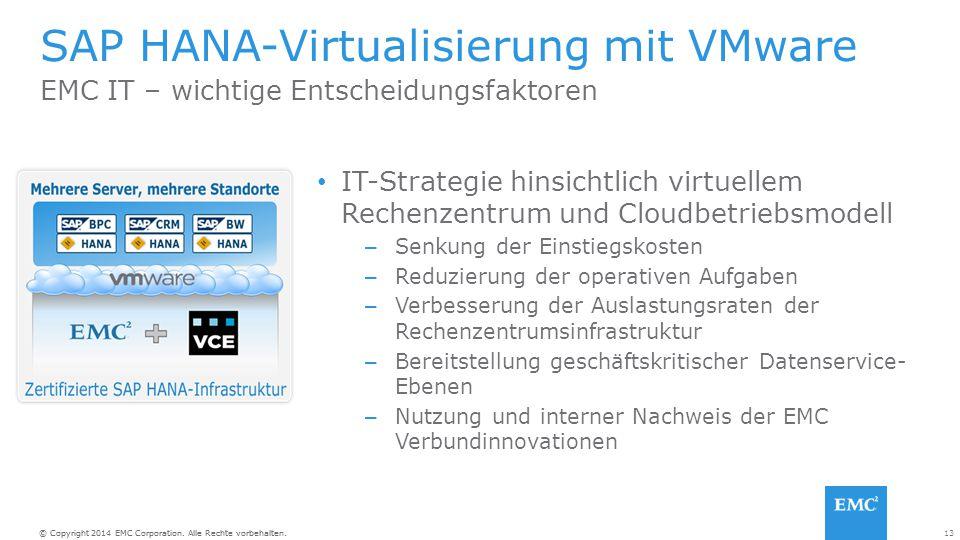 SAP HANA-Virtualisierung mit VMware