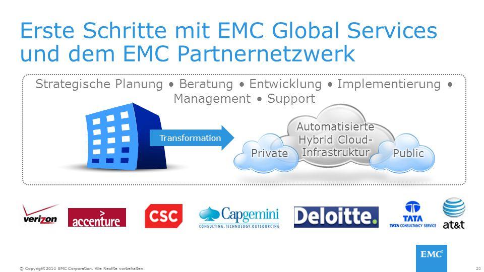 Erste Schritte mit EMC Global Services und dem EMC Partnernetzwerk