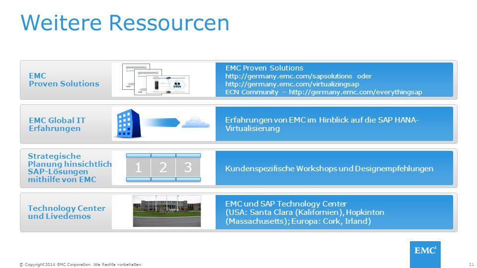 Weitere Ressourcen 3 1 2 EMC Proven Solutions