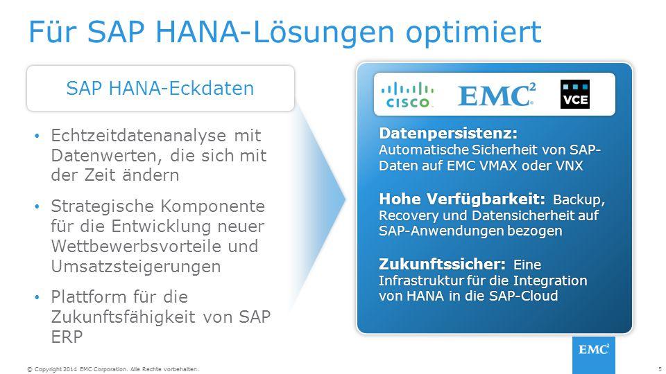 Für SAP HANA-Lösungen optimiert