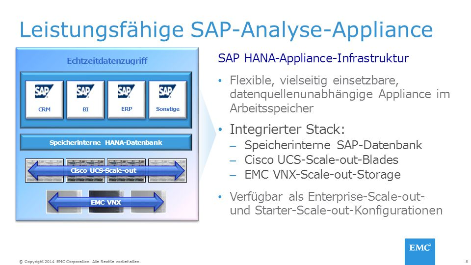 Leistungsfähige SAP-Analyse-Appliance