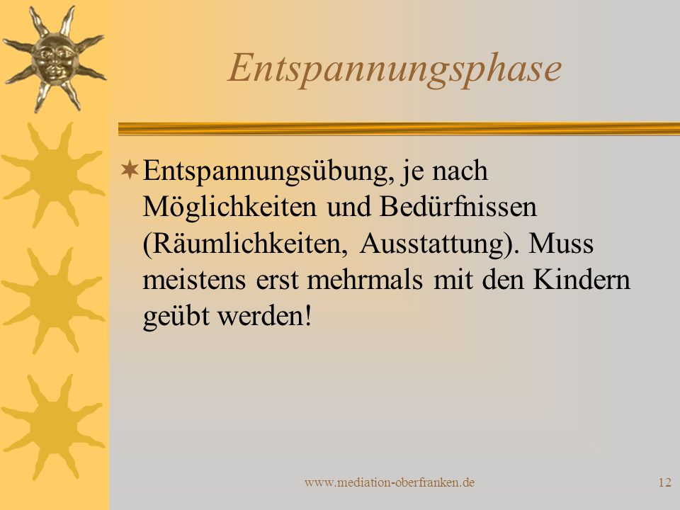 Entspannungsphase