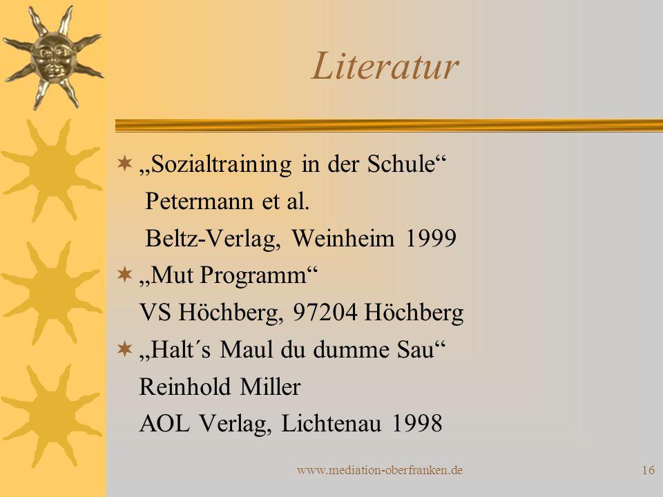 "Literatur ""Sozialtraining in der Schule Petermann et al."