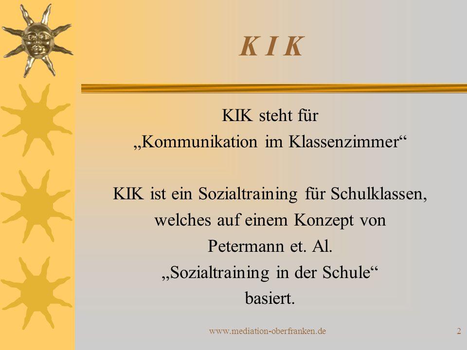 """K I K KIK steht für """"Kommunikation im Klassenzimmer"""