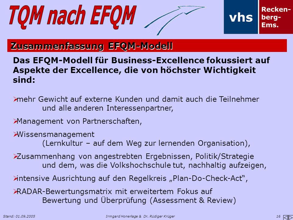 Zusammenfassung EFQM-Modell