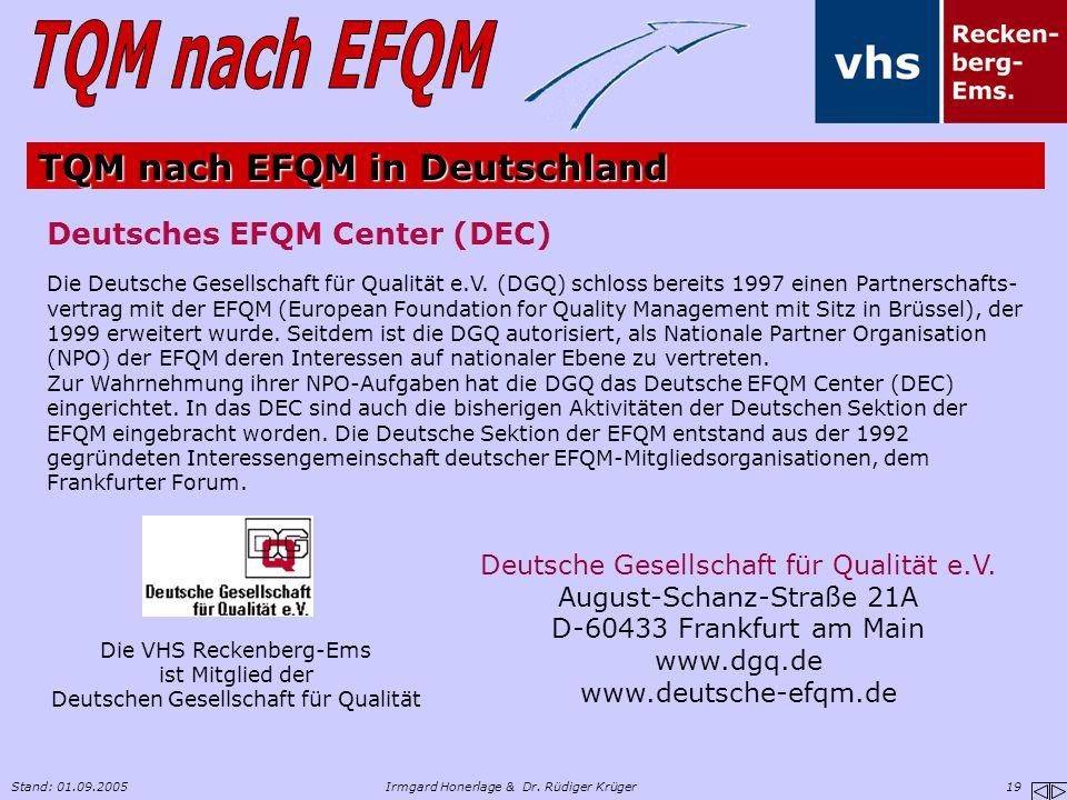 TQM nach EFQM in Deutschland