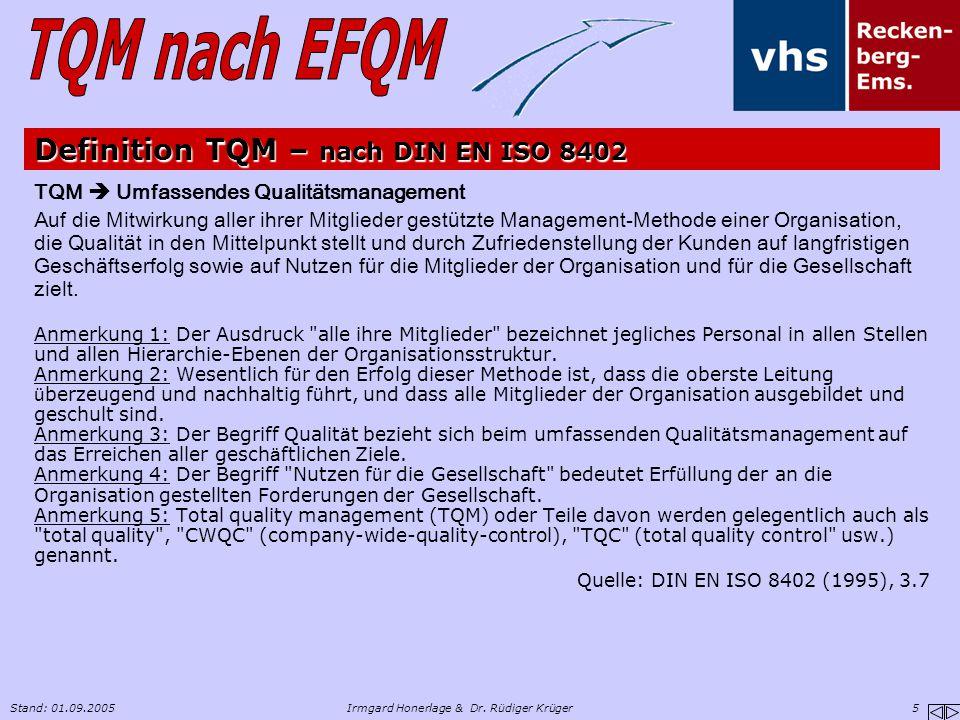 Definition TQM – nach DIN EN ISO 8402
