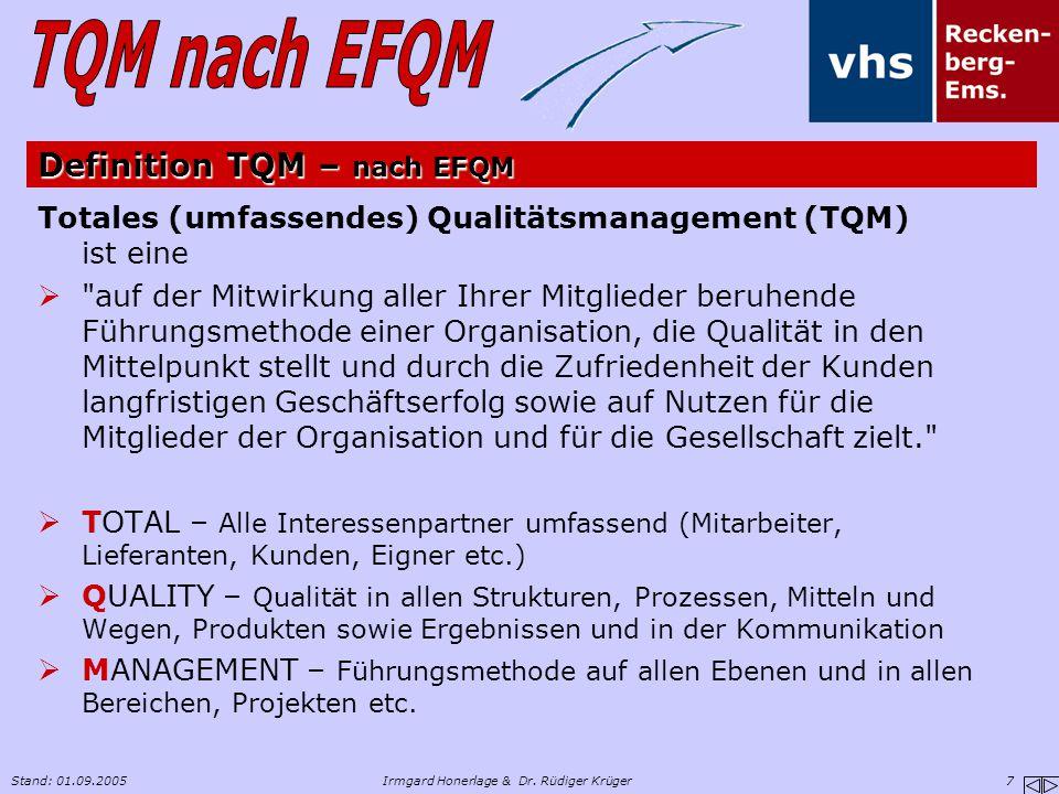 Definition TQM – nach EFQM
