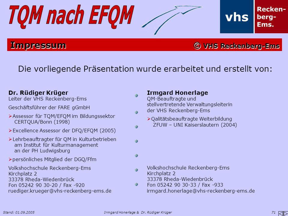 Impressum © VHS Reckenberg-Ems
