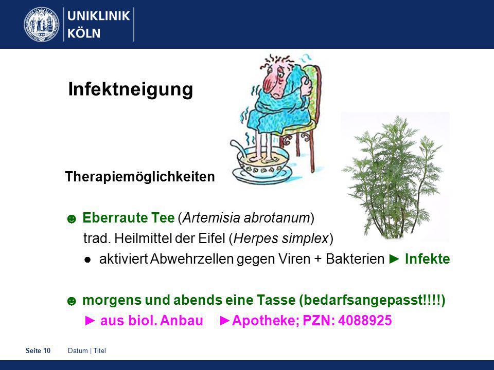 Infektneigung Therapiemöglichkeiten