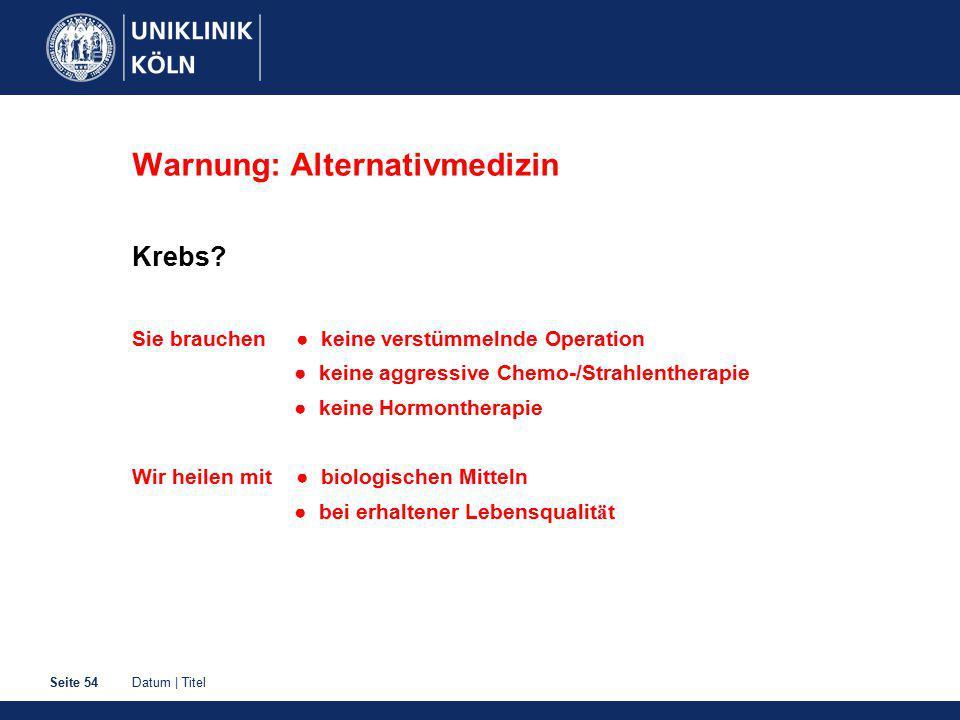 Warnung: Alternativmedizin