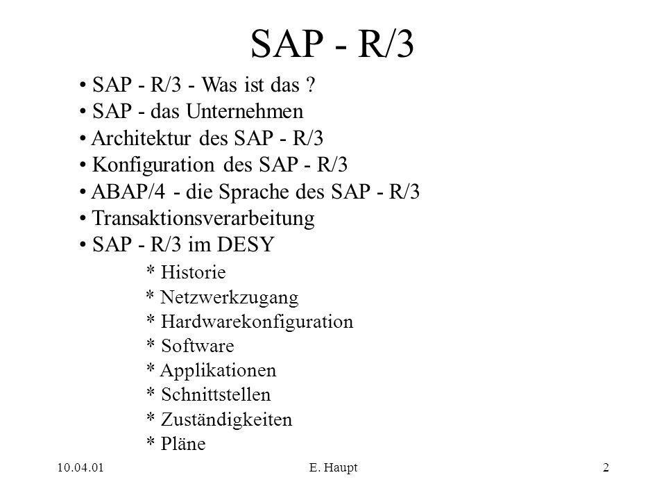 SAP - R/3 SAP - R/3 - Was ist das SAP - das Unternehmen