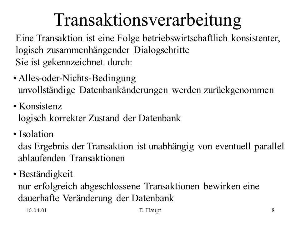 Transaktionsverarbeitung