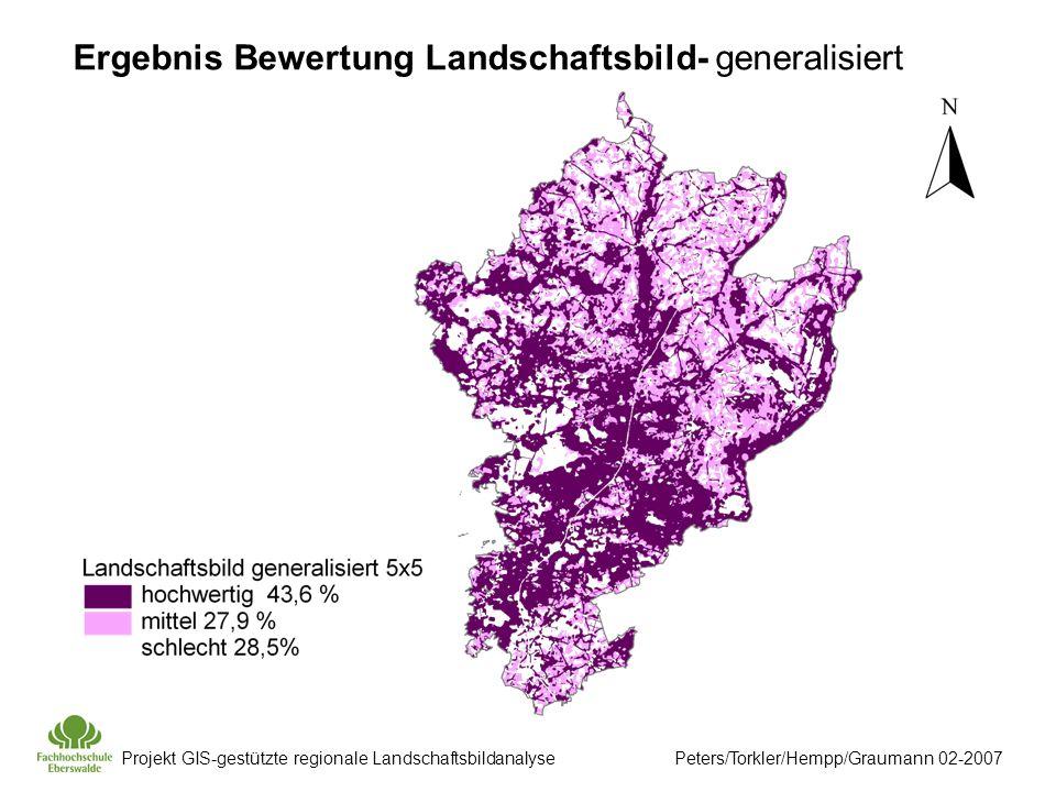 Ergebnis Bewertung Landschaftsbild- generalisiert