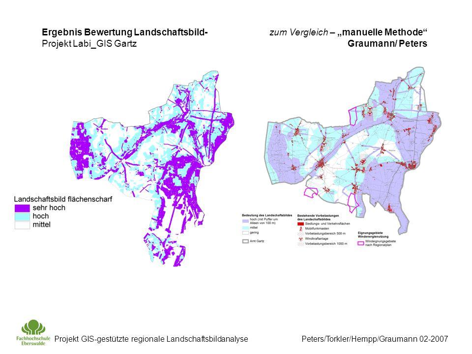 Ergebnis Bewertung Landschaftsbild- Projekt Labi_GIS Gartz