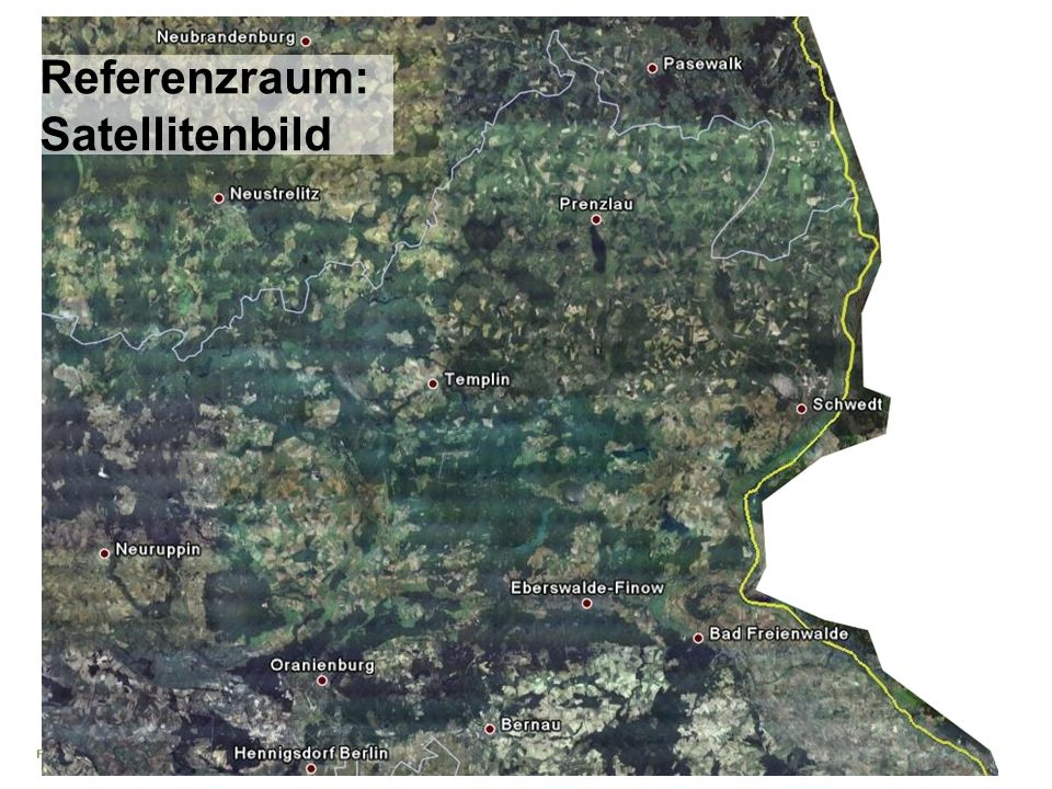 Referenzraum: Satellitenbild